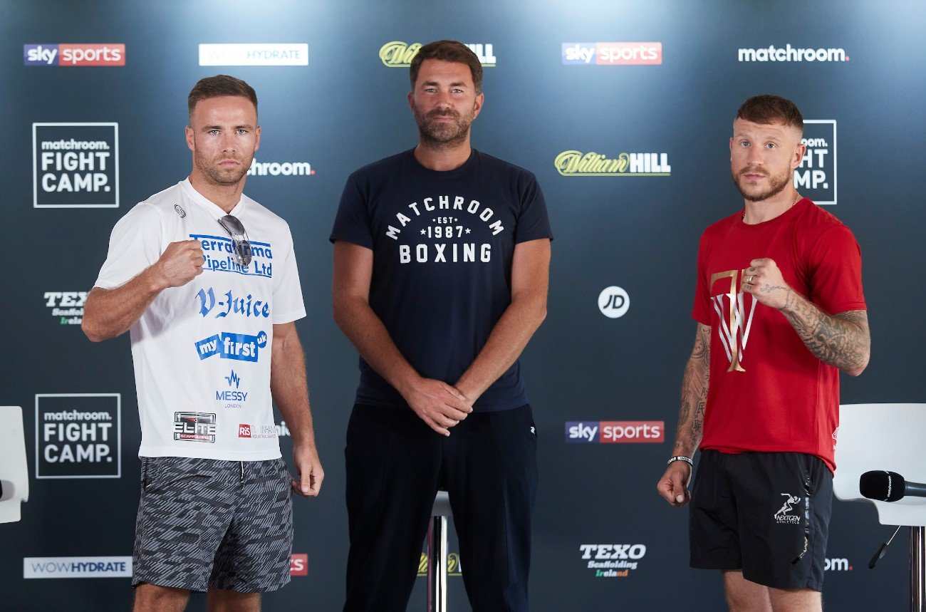 "Felix Cash, Jason Welborn - Eddie Hearn: ""Thanks, Chris, thanks, Darren, and thank you, everybody, for tuning in across this stream, joining us on Sky Sports News and, of course, Matchroom Boxing socials as well. Wow. What a couple of weeks we've had. You know I was thinking the other day, Fight Camp is unquestionably the standout performer across all sports, in my opinion, not just boxing, but all sports coming out through lockdown. It has been absolutely fantastic, and I believe this week, we have the best week of the three so far from top to bottom. Compelling fights. We're expecting a few thunderstorms; we're expecting a little bit of rain, it's all going to add to the drama of Fight Camp as it unfolds at Matchroom H.Q. this Friday live on Sky Sports in the U.K. and DAZN across America."""