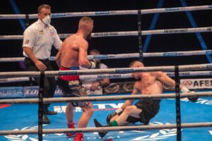 Lewis Crocker - It was a tremendous evening of action as another huge #MTKFightNight event took place - and saw Lewis Crocker stop Louis Greene to become the new WBO European welterweight champion.