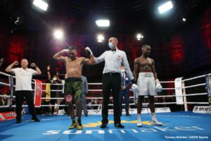 Abass Baraou, Jack Culcay - Former WBA junior middleweight champion Jack Culcay (29-4, 13 KOs) edged #8 IBF Abass Baraou (9-1, 6 KOs) in winning a controversial 12 round split decision on Friday night in an IBF 154-lb title eliminator for the #2 spot at the  Havel Studios in Berlin, Germany.