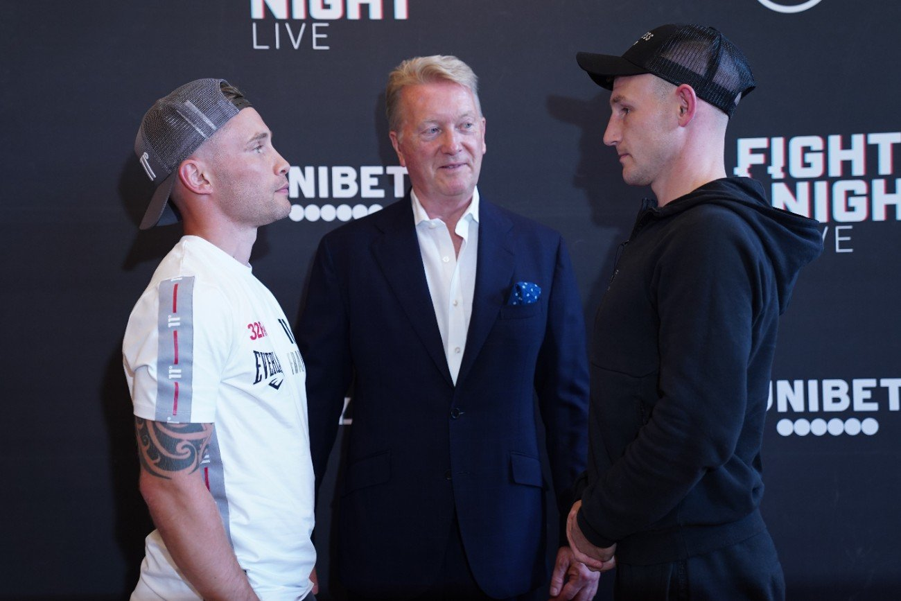 Archie Sharp, Carl Frampton, Darren Traynor, Jeff Ofori - CARL FRAMPTON takes on Darren Traynor in the fourth show of Frank Warren's summer series, live on BT Sport on Saturday night.