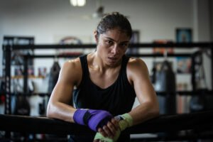 Katie Taylor - Jessica McCaskill wants to tee up a blockbuster rematch with Katie Taylor by ending the reign of undisputed World Welterweight champion Cecilia Brækhus on the streets of downtown Tulsa, Oklahoma, on Saturday, August 15, live on DAZN.