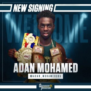 Adan Mohamed - FRANK WARREN IS delighted to announce that outstanding amateur star Adan Mohamed has signed a promotional agreement to turn professional under the Queensberry Promotions banner.