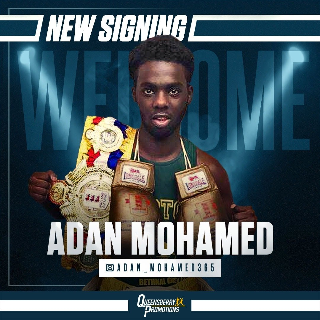 Adan Mohamed, Stephen Adentan - FRANK WARREN IS delighted to announce that explosive cruiserweight prospect Stephen Adentan is to join the Queensberry Promotions ranks after turning professional.