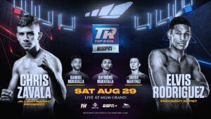 "Elvis Rodriguez - The Dominican Republic's most feared southpaw slugger since David Ortiz, Elvis ""The Dominican Kid"" Rodriguez, returns on the Jose Ramirez-Viktor Postol/Arnold Barboza Jr.-Tony Luis undercard Saturday, Aug. 29 for his third appearance inside the MGM Grand ""Bubble."""