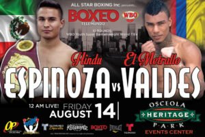 Brandon Valdes, Ricardo Espinoza - Miami, Fla: All systems are a go for this Friday Night's return of BoxeoTelemundo 12AM/EST