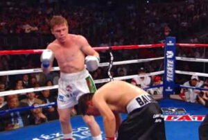 Canelo Alvarez, Carlos Baldomir - A decade ago today, when fighting on the undercard of a fight between Sugar Shane Mosley and Sergio Mora in Los Angeles, a young, primed for stardom Canelo Alvarez scored an exquisite, one-punch KO that the Mexican may still not have topped in terms of a career-highlight knockout. Canelo was just 20 years of age and he went in with a veteran in former welterweight champ Carlos Baldomir.