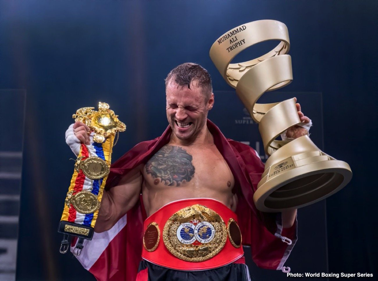 Mairis Briedis, Yuniel Dorticos - Season II of the World Boxing Super Series came to its conclusion on Saturday with Mairis Briedis taking home the coveted Muhammad Ali Trophy after a thrilling encounter against Yuniel Dorticos at the Plazamedia Studios in Munich, Germany.