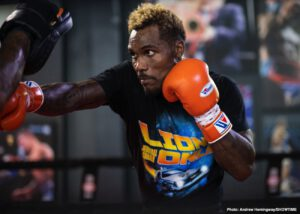 Jermall Charlo, Sergiy Derevyanchenko - Jermall Charlo brought fans and media into his training camp Monday with a virtual media workout as he prepares to face top Sergiy Derevyanchenko on September 26. Jermall will headline part one of a first-of-its-kind SHOWTIME PPV doubleheader. Premier Boxing Champions present the event.