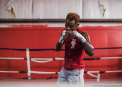 Jeison Rosario, Jermell Charlo - WBC Super Welterweight World Champion Jermell Charlo showed off his skills for fans and media Tuesday during a virtual media workout. He nears the historic unification showdown against WBA and IBF 154-pound champion Jeison Rosario that headlines part two of a first-of-its-kind SHOWTIME PPV doubleheader Saturday, September 26 in an event presented by Premier Boxing Champions.