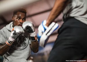 Jermell Charlo - WBC Super Welterweight World Champion Jermell Charlo showed off his skills for fans and media Tuesday during a virtual media workout. He nears the historic unification showdown against WBA and IBF 154-pound champion Jeison Rosario that headlines part two of a first-of-its-kind SHOWTIME PPV doubleheader Saturday, September 26 in an event presented by Premier Boxing Champions.