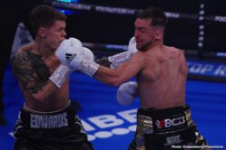 Apinun Khongsong, Charlie Edwards, Josh Taylor - Josh Taylor made an emphatic statement in his first fight as a unified world champion, defending his WBA and IBF junior welterweight world titles with a first-round stoppage over mandatory challenger Apinun Khongsong from BT Studio at York Hall.