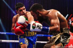 Brandon Figueroa, Daniel Roman, Jeison Rosario, Jermall Charlo, Jermell Charlo, Luis Nery, Sergiy Derevyanchenko - Houston's Charlo Twins made successful pay-per-view debuts on Saturday in a historic night of boxing as Jermell Charlo unified the WBC, WBA, and IBF 154-pound titles with a spectacular eighth-round knockout against Jeison Rosario in the main event of part two of the first-ever pay-per-view doubleheader live on SHOWTIME PPV from the Mohegan Sun.