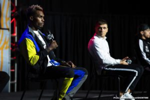 Jermall Charlo - WBC Middleweight Champion Jermall Charlo and WBC Super Welterweight Champion Jermell Charlo previewed the CHARLO DOUBLEHEADER at final press conferences Wednesday, as they went face to face with the opponents presenting the most challenging tests of their careers.