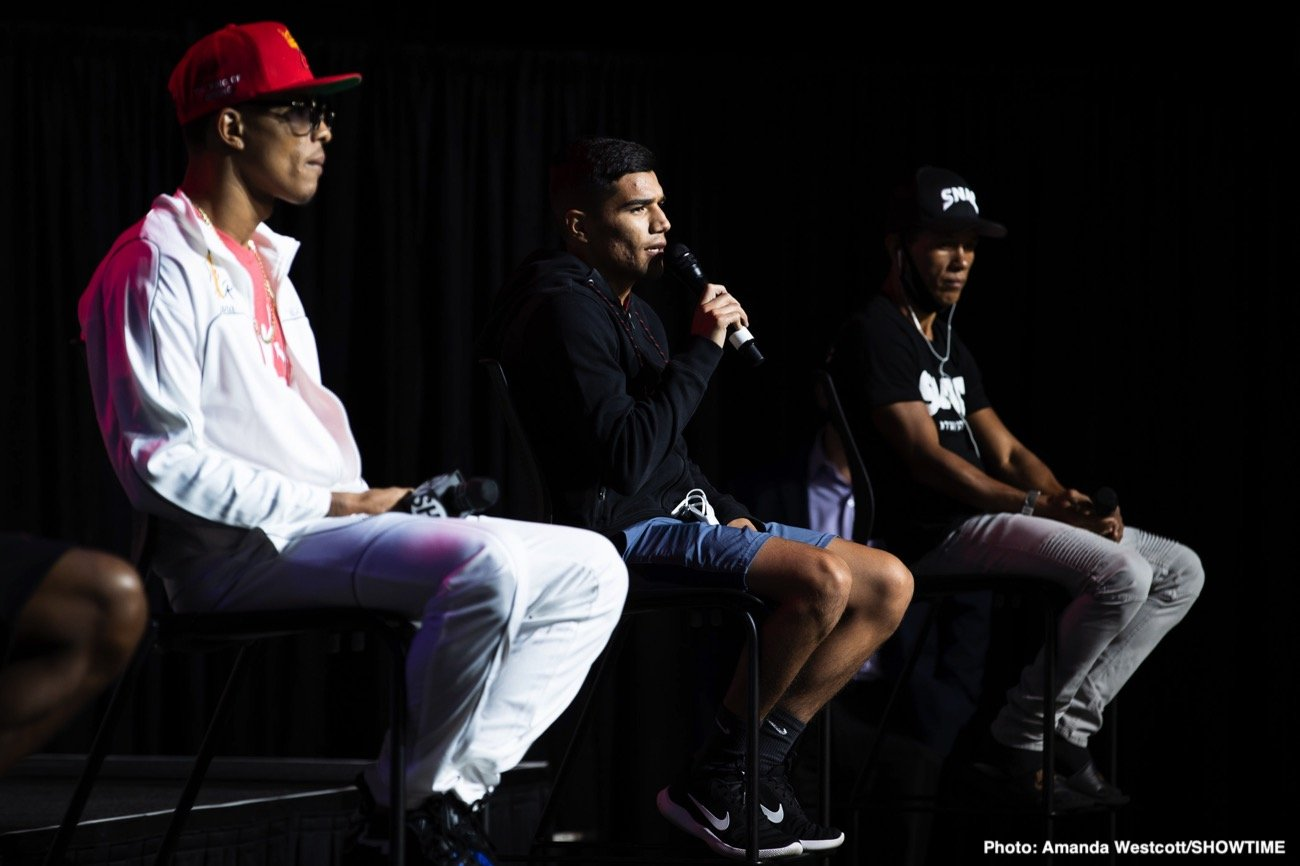 Jeison Rosario, Jermall Charlo, Jermell Charlo, Sergiy Derevyanchenko -  Top fighters and trainers shared their thoughts and gave predictions on the two main events headlining the blockbuster CHARLO DOUBLEHEADER this Saturday, September 26, live on SHOWTIME PPV (7 p.m. ET/4 p.m. PT) from Mohegan Sun Arena in Uncasville, Conn., in an event presented by Premier Boxing Champions.