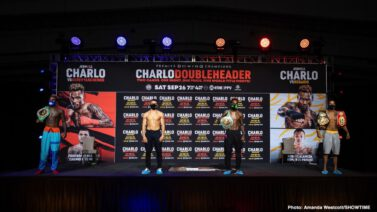 Jeison Rosario, Jermall Charlo, Jermell Charlo, Sergiy Derevyanchenko - Saturday, September 26 Live on SHOWTIME PPV® at 7 p.m. ET/4 p.m. PT