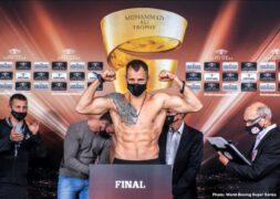 """Mairis Briedis, Yuniel Dorticos - """"A Spectacular Fight"""" - Briedis & Dorticos Make Weight in Munich -  Watch Yuniel Dorticos vs Mairis  Briedis live on DAZN in the U.S. & Canada, Sky Sports in the UK, and Bildplus in Germany."""