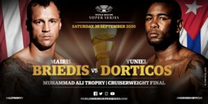Mairis Briedis, Yuniel Dorticos - IBF champion Yuniel Dorticos (24-1, 22 KOs) and his entourage touched down safely on Sunday in Munich for his Ali Trophy showdown against Mairis Briedis (26-1, 19 KOs) on Saturday.