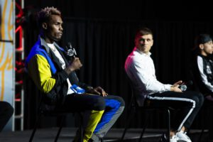 Jermell Charlo - WBC Middleweight Champion Jermall Charlo and WBC Super Welterweight Champion Jermell Charlo previewed the CHARLO DOUBLEHEADER at final press conferences Wednesday, as they went face to face with the opponents presenting the most challenging tests of their careers.