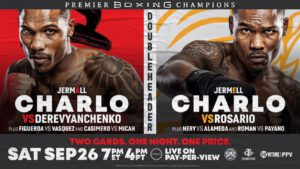 Jermell Charlo -  154-POUND CHAMPIONS JERMELL CHARLO AND JEISON ROSARIO CLASH IN HISTORIC WORLD TITLE UNIFICATION BOUT IN PART TWO OF FIRST-EVER SHOWTIME PPV® DOUBLEHEADER PRESENTED BY PREMIER BOXING CHAMPIONS ON SATURDAY, SEPTEMBER 26