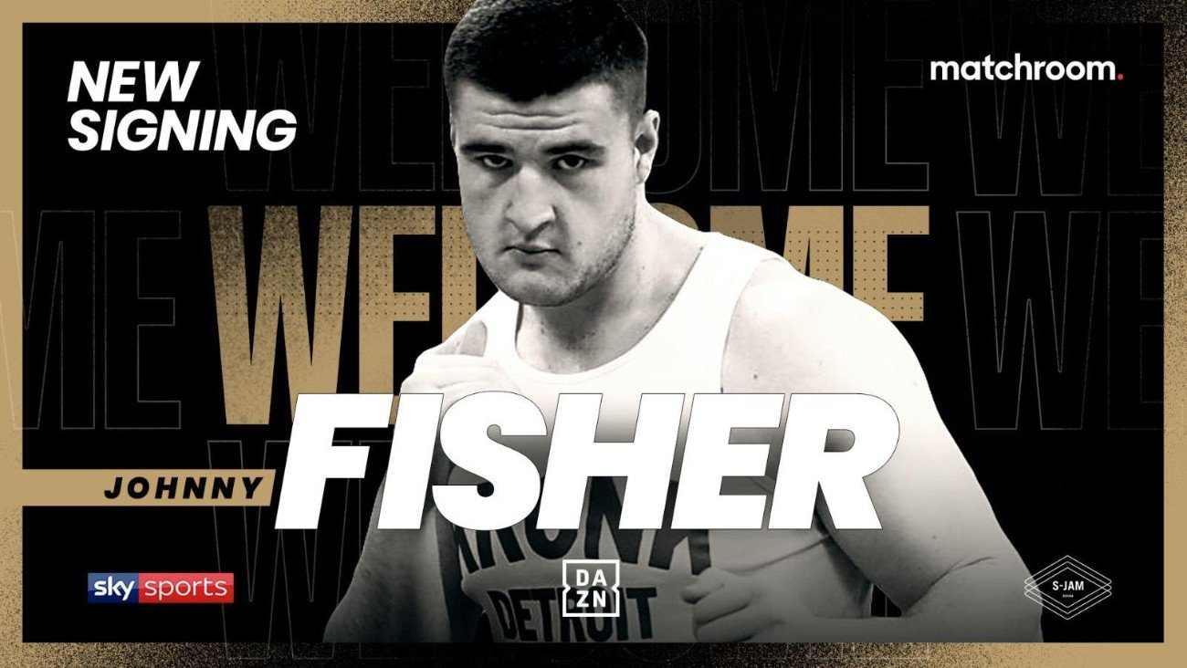 Johnny Fisher - Johnny Fisher has signed a multi-fight promotional deal with Eddie Hearn's Matchroom Boxing and will plan to make his highly-anticipated professional debut by the end of the year.