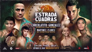 Julio Cesar Martinez - Matchroom return to Mexico on Friday, October 23, at TV Azteca Studios in Mexico City with a World title triple-header led by champions Juan Francisco Estrada, Román' Chocolatito' González, and Julio Cesar Martinez. The card will be shown live on DAZN in the US and on TV Azteca in Mexico, on a tremendous fight night brought to you by Eddie Hearn's Matchroom Boxing with Zanfer Promotions.