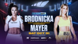 Ewa Brodnicka - Mikaela Mayer called on the junior lightweight world champions for a fight. One of them was mandated to answer.