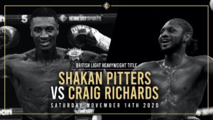 Shakan Pitters - BBBofC CONFIRM PITTERS V RICHARDS CLASH FOR BRITISH 175 POUND CROWN ON NOVEMBER 14