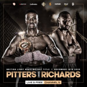 Craig Richards, Shakan Pitters - It's fair to say that leading light-heavyweights Craig 'Spider' Richards and Shakan Pitters don't like each other, don't rate each other!