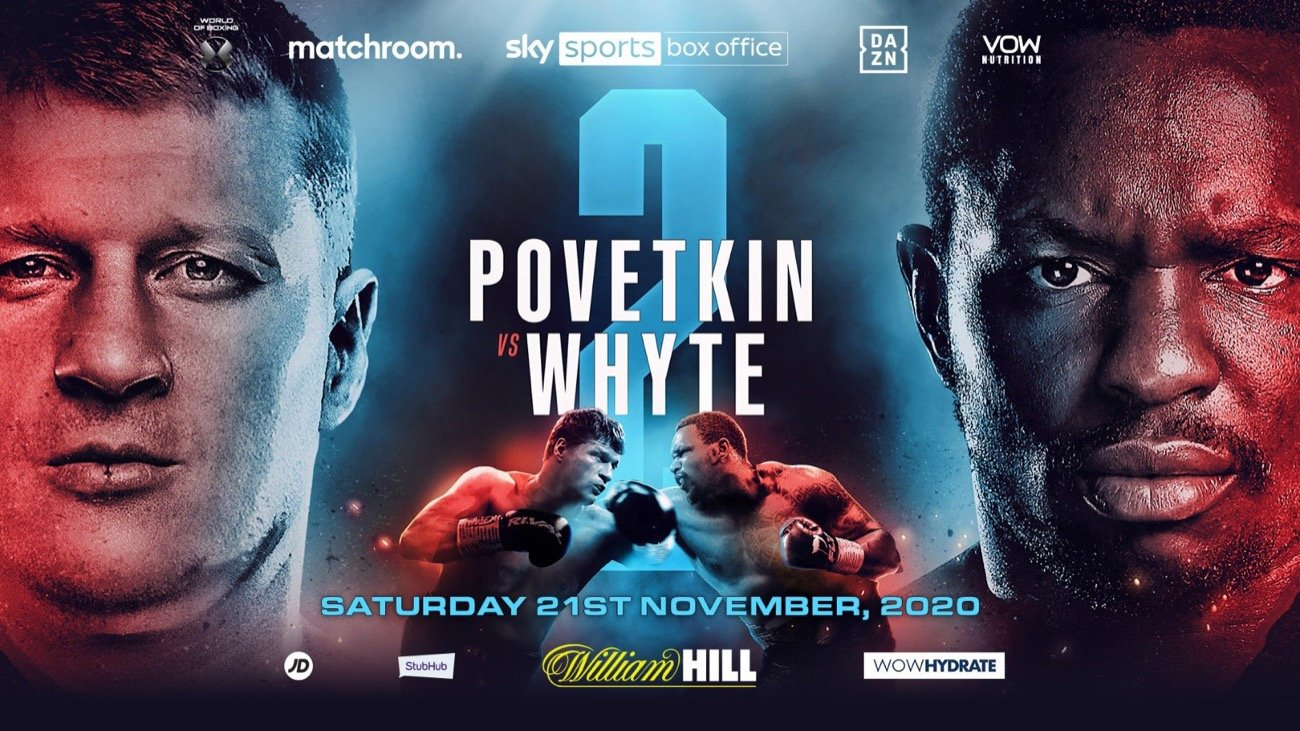 Alexander Povetkin, Dillian Whyte - 'The Body Snatcher' targets knockout revenge over 'Sasha': Dillian Whyte has an immediate opportunity to exact revenge over Alexander Povetkin on Saturday November 21 as the Heavyweight rivals collide in a blockbuster rematch, live on Sky Sports Box Office in the UK.