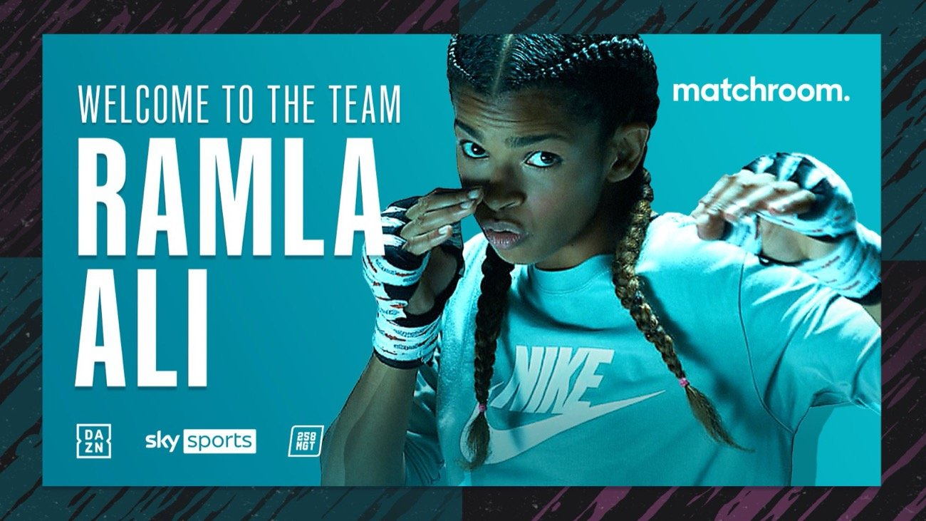 Zhang Zhilei - Ramla Ali has signed a multi-fight promotional deal with Eddie Hearn's Matchroom Boxing and will make her highly-anticipated professional debut in October subject to licensing.