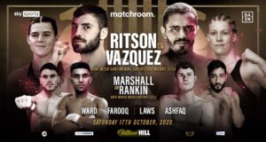 Lewis Ritson, Miguel Vazquez - Lewis Ritson will defend his WBA Inter-Continental Super-Lightweight Title against Mexico's former long-reigning World Champion Miguel Vazquez on Saturday October 17, live on Sky Sports and DAZN.