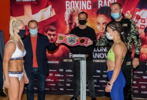 Filip Hrgovic - Dina Thorslund (14-0, 6 KOs) and Nina Radovanovic (14-3, 3 KOs) both made weight ahead of their WBO Super Bantamweight World title clash this Saturday night at the Struer Energi Park in Struer, Denmark.