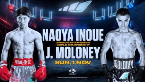 """Naoya Inoue - It's fitting that the fighter who is known by the nickname, """"The Monster"""" will make his ring return on Halloween night. Naoya Inoue, one of the scariest punchers in boxing today, may well give us all some thrills and chills a week on Saturday. But facing the Japanese star will be a man who can bang himself. Australia's Jason Moloney will square off with Inoue in a fight that will see Inoue defend his two bantamweight titles."""