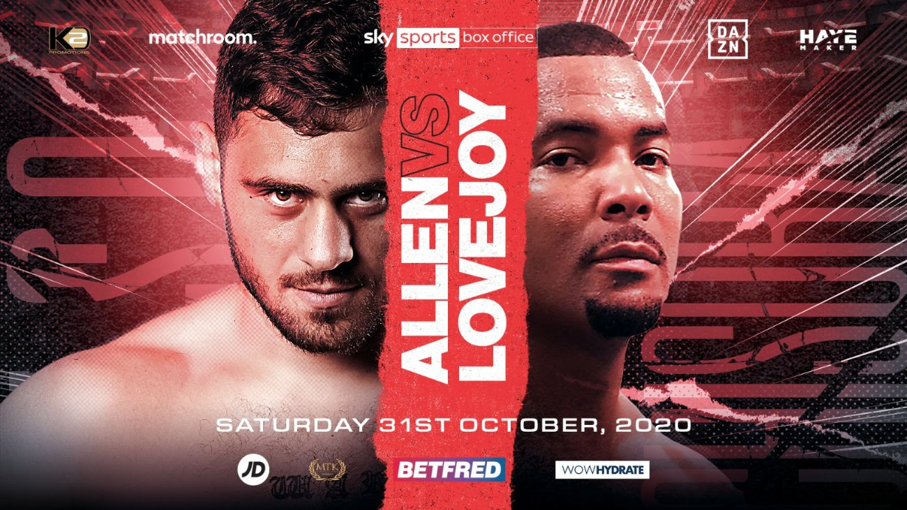 Dave Allen - Dave Allen will fight Christopher Lovejoy on the undercard of the blockbuster Heavyweight clash between Oleksandr Usyk and Derek Chisora at The SSE Arena, Wembley on Saturday, October 31, live on Sky Sports Box Office in the UK and on DAZN in all of its nine markets including the U.S.