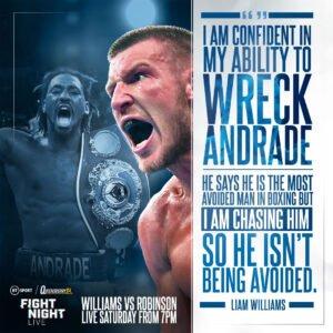 Demetrius Andrade - LIAM WILLIAMS believes WBO World Middleweight champion Demetrius Andrade has nowhere to hide.
