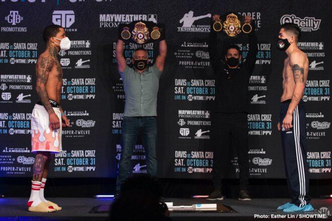 Floyd Mayweather, Gervonta Davis, Leo Santa Cruz - Boxing News