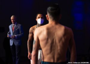 Gervonta Davis, Leo Santa Cruz - The biggest topic for Saturday nights Showtime PPV headliner between Gervonta Davis and Leo Santa Cruz is how each fighter's body will react in the ring to the 130-pound division. Gervonta has struggled to keep his weight down out of training camp and lost his title back in 2017 because he couldn't shed enough to make junior lightweight. Leo Santa Cruz has exactly one fight at 130 and didn't look all that great last November as the Wilder vs. Ortiz 2 co-feature. Regardless of how this fight plays out, how we get there should be at the very least eventful.