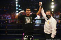 "Mark Magsayo, Rigoberto Hermosillo - Unbeaten featherweight contender Mark ""Magnifico"" Magsayo won a split-decision over Rigoberto Hermosillo in the FS1 PBC Fight Night main event and on FOX Deportes Saturday night from Microsoft Theater in Los Angeles."