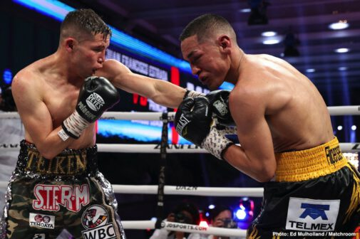 Carlos Cuadras, Israel Gonzalez, Juan Francisco Estrada, Julio Cesar Martinez, Moises Calleros, Roman Gonzalez - WBC super flyweight champion Juan Francisco Estrada (41-3, 28 KOs) showed the heart of a warrior in getting up off the deck from an early knockdown to come back to stop Carlos Cuadras (39-4-1, 27 KOs) in round eleven in their rematch on Friday night at the TV Azteca Studios in Mexico City, Mexico.