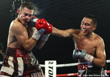 Gabriel Flores Jr, Ivan Baranchyk, Jose Zepeda, Ryan Kielczweski - Jose Zepeda knocked out Ivan Baranchyk in the fifth round of their junior welterweight instant classic Saturday evening at the MGM Grand Las Vegas. Both men hit the canvas four times, but it was a left hand from Zepeda, a two-time world title challenger, that ended the fight. Eight knockdowns. Fight of the Year.