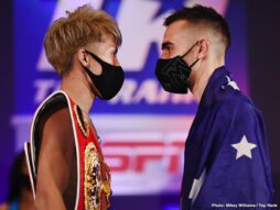 Jared Anderson, Jason Moloney, Luis Coria, Naoya Inoue - Monster Weigh-In Results: Naoya Inoue-Jason Moloney & Ewa Brodnicka-Mikaela Mayer World Title Doubleheader from The Bubble