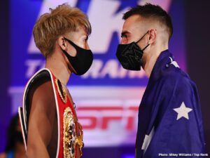 Naoya Inoue - Monster Weigh-In Results: Naoya Inoue-Jason Moloney & Ewa Brodnicka-Mikaela Mayer World Title Doubleheader from The Bubble