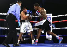 """Ewa Brodnicka, Jason Moloney, Julian Rodriguez, Mikaela Mayer, Naoya Inoue, Robson Conceição - The Monster came to Las Vegas. He conquered. Naoya """"Monster"""" Inoue, the pound-for-pound talent from Japan, defended his WBA/IBF/Ring Magazine bantamweight world titles Saturday with a seventh-round knockoutover Australian contender Jason """"Mayhem"""" Moloney."""