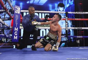 Naoya Inoue - IBF/WBA bantamweight champion Naoya Inoue (20-0, 17 KOs) defeated Jason Moloney (21-2, 18 KOs) by a seventh-round knockout in a Top Rank event on ESPN+ on Saturday night in the Bubble at the MGM Grand in Las Vegas, Nevada.