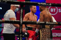 Andrew Robinson, Demetrius Andrade, Liam Williams, Nathan Gorman, Richard Lartey - British middleweight champion Liam Williams (23-2-1, 18 KOs) is chomping at the bit to challenge Demetrius Andrade for his WBO 160lb title following his first-round knockout win over journeyman Andrew Robinson (24-5-1, 7 KOs) on Saturday night at the BT Sport Studio, Stratford.