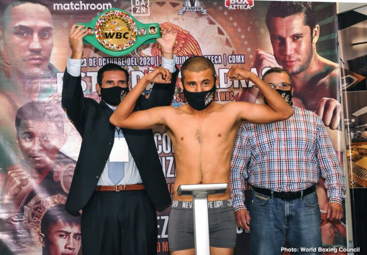 Carlos Cuadras, Juan Francisco Estrada - WEIGHTS, RUNNING ORDER AND IMAGES FROM THE WEIGH-IN IN MEXICO CITY  - Live on DAZN from 7pm ET