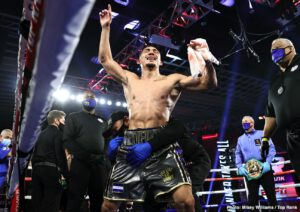 Teofimo Lopez wants Kambosos to step aside for Haney fight next