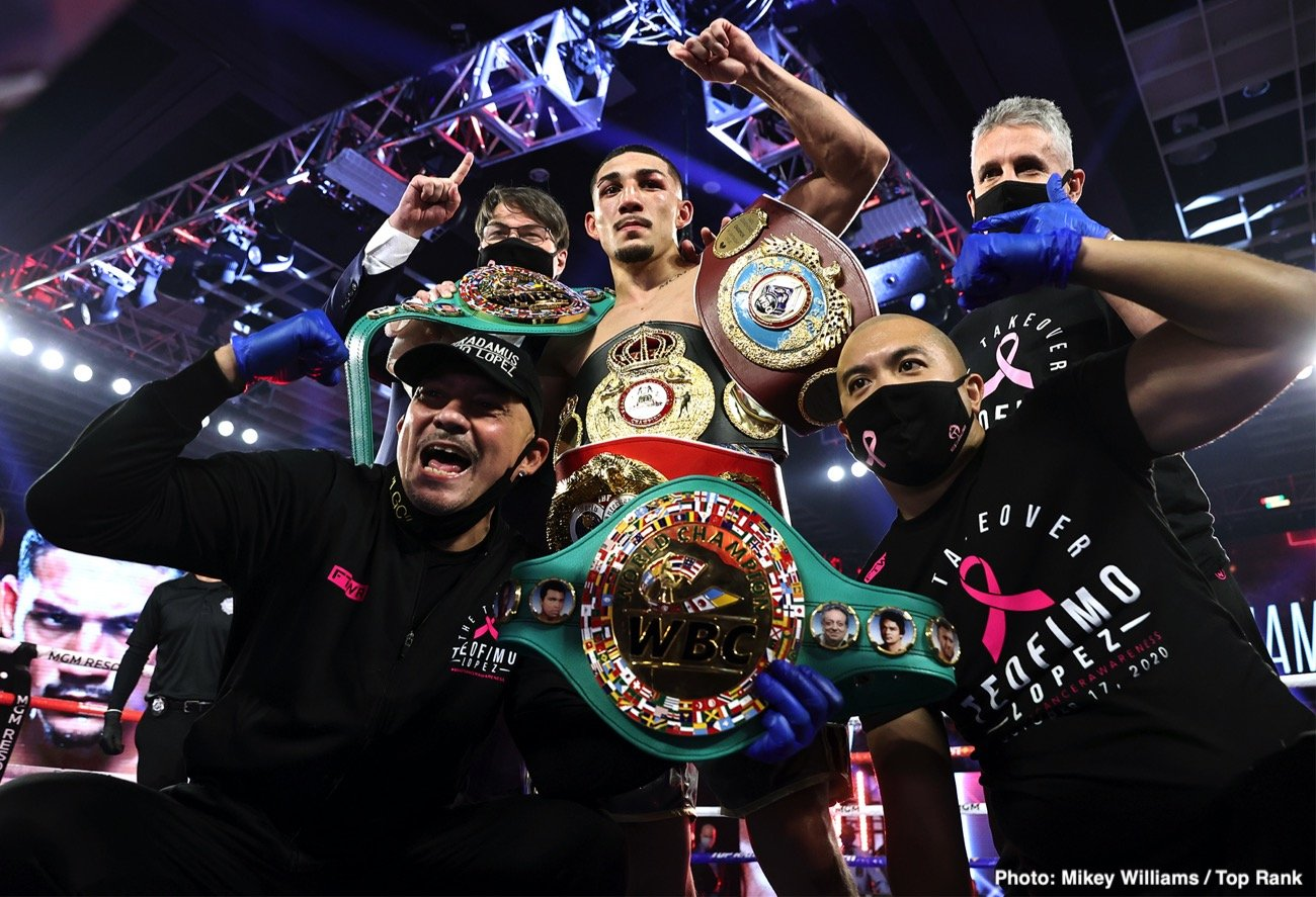 Teofimo Lopez, Vasiliy Lomachenko - Vasily Lomachenko's defeat at the hands of Teofimo Lopez last Saturday night has been met with largely positive views in the boxing world over the results of their fight in Las Vegas, Nevada.
