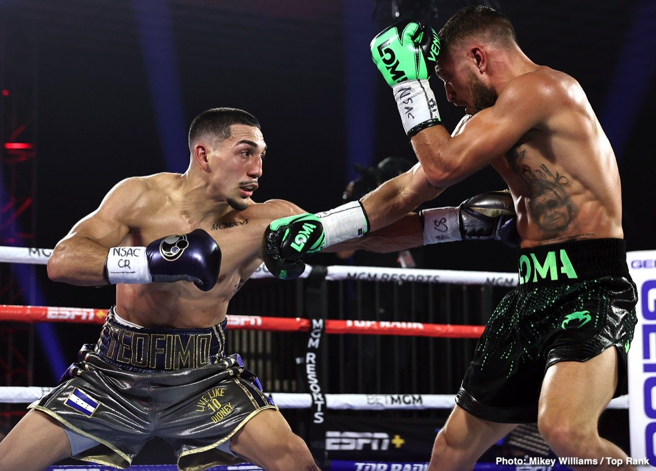Bob Arum, Devin Haney, Ryan Garcia, Teofimo Lopez, Vasiliy Lomachenko - Promoter Bob Arum wants former pound-for-pound king Vasily Lomachenko to move back down to the 130-pound division because he feels he's too small to be fighting at 135.