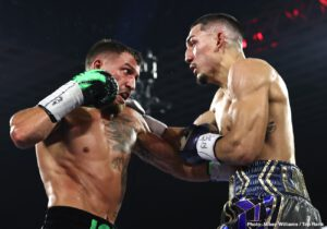 Devin Haney - Promoter Bob Arum wants former pound-for-pound king Vasily Lomachenko to move back down to the 130-pound division because he feels he's too small to be fighting at 135.